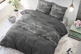 Sleeptime Royal Luxury - Dekbedovertrek - Eenpersoons - 140x200/220 + 1 kussensloop 60x70 - Grijs
