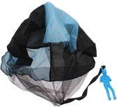 Johntoy Parachutespringer 9 Cm Blauw