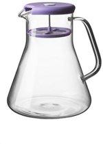 Qdo Karaf Theepot - 1 l - Glas - Paars