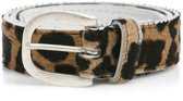 Dames Riem met koeienhuid Panter Mt. 95 (M/L) Art. 35802 Tannery Leather