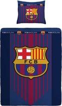 Fc Barcelona Dekbedovertrek Logo Blauw 140 X 200 Cm