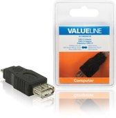 Valueline VLCB60901B kabeladapter/verloopstukje USB 2.0 Micro B USB 2.0 A Zwart