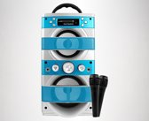 Overmax Portable Idol 2.1 Karaoke set met 2 microfoons, Bluetooth, FM, SD, USB