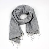 Sjaal met Verhaal - Sjaal lichtgrijs - 80x190cm