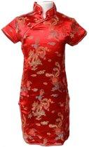 Chinese jurk - Rood - Maat 140/146 (12) - Verkleed jurk - Prinsessen jurk