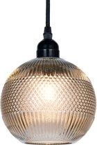Hanglamp ø 15*19 cm /  E27 / Max. 1x 40 Watt Bruin | 6LMP507 | Clayre & Eef