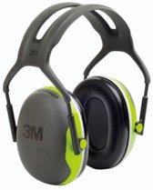 Oorkappen 3M Peltor X4A, met hoofdband , geel-groen