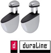 Duraline plankdrager clip select chroom