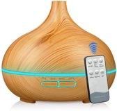 Aroma Diffuser 550ML met Afstandsbediening en lemongrass olie van Zedar Vernevelaar - Luchtbevochtiger – Verdamper – Aromatherapie - Geurverspreider