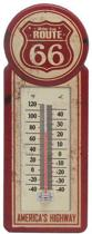 Signs-USA Route 66 Thermometer - Retro Wandbord - Metaal - 39x14 cm