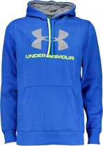 Under Armour Big Logo Fleece Hoodie - Mannen - Maat L - Blauw/Neon Geel