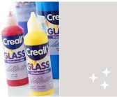 Creall Glass - glasstickerverf glitterzilver 1 Fles - 80 Mililiter 20572