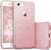 Apple iPhone 6 Plus & 6s Plus - Glitter Backcover Hoesje - Roze