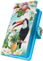 Huawei P10 Lite 3D Print Toekan   bookstyle / book case/ wallet case Hoesje    WN™