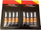 8 tubes superglue/secondenlijm 3 gram