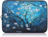 Laptop Sleeve met bloemen tot 13 inch – Blauw