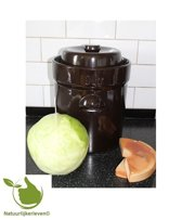 Zuurkoolpot 10 liter met verzwaringsstenen