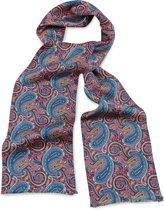 We Love Ties Herensjaal zijde Pietro Paisley, koraalrood / blauw / oranje / beige