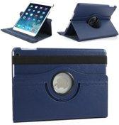 Apple iPad 2, 3 en 4 Swivel Case, 360 graden draaibare Hoes, Cover - - Donkerblauw