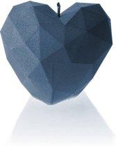 Candellana figuurkaars Liefdes Hart Modern jeans kleur gelakt. Hoogte 7 cm (18 uur)