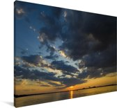 Zonsopkomst in het Nationaal park Chobe Canvas 180x120 cm - Foto print op Canvas schilderij (Wanddecoratie woonkamer / slaapkamer) XXL / Groot formaat!