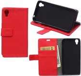Litchi Cover wallet case hoesje Alcatel Idol 3 4.7 rood