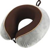 Travelsafe nekkussen De Luxe - memory foam - grijs bruin
