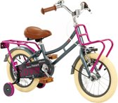 2Cycle Heart Kinderfiets - 14 inch - Grijs-Roze