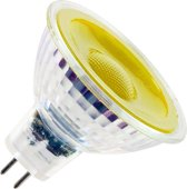 SPL reflectorlamp 12V LED geel 5W GU5,3