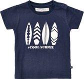 Minymo meisjes t-shirt - surfplanten - blauw - Maat 98
