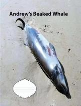 Andrew's Beaked Whale Wide Ruled Line Paper Composition Book
