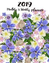 2019 Monthly and Weekly Planner