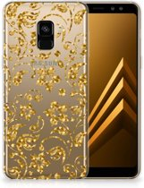 Samsung Galaxy A8 Plus (2018) TPU Case Gouden Bloemen