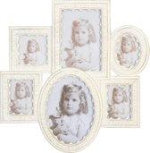 Clayre & Eef Fotolijst collage 34x32 / 3x 7x9 / 8x8 / 16x10 / 16x12 cm