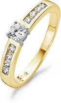 Blush Ring 1125BZI -  Geel en Wit Goud (14Krt.) met Zirconia