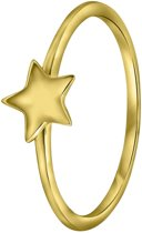 Lucardi - Zilveren ring goldplated ster