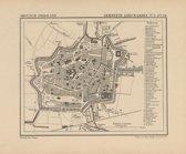 Historische kaart, plattegrond van de stad Leeuwarden. in Friesland uit 1867 door Kuyper van Kaartcadeau.com