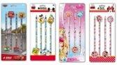 16 stuks Disney potloden 4x set van 4 met gum