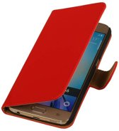 Samsung Galaxy J3 J300F Rood | bookstyle / book case/ wallet case Hoes  | WN™