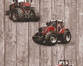 TRACTOR BEHANG - Bruin Rood - AS Creation Little Stars