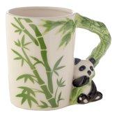 Beker met een panda als handvat