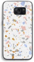 Samsung Galaxy S7 Transparant Hoesje (Soft) - Terrazzo N°8