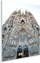 Achterkant Sagrada Familia Barcelona Plexiglas 80x120 cm - Foto print op Glas (Plexiglas wanddecoratie)