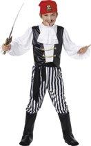 Kinderkostuum Mini Piraat Maat M - 6-8 Jaar