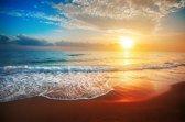 Papermoon Beach Sunset Vlies Fotobehang 250x186cm 5-Banen