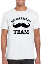 Vrijgezellenfeest Team t-shirt wit heren - vrijgezellen shirt M