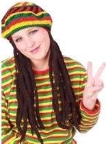 Bob Marley baret pet Dreadlocks met rasta haar