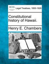Constitutional History of Hawaii.
