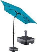 Kopu® parasol 300x200 cm Rechthoekig Luarca met voet - Turquoise