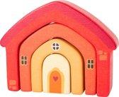 Houten bouwblokken huisje - Multikleuren - Speelgoed vanaf 1 jaar